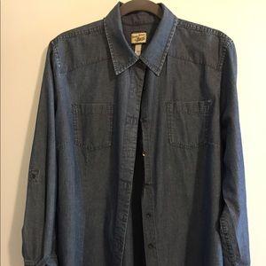 Long sleeve denim blouse